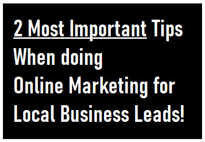 Online Marketing for Local Business